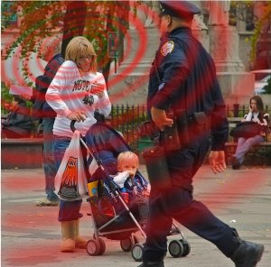 Mother with Cellphone, child in the near zone!